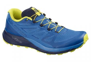 Chaussures de trail salomon sense ride bleu jaune 42