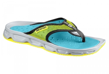 Chaussures de recuperation salomon rx break bleu jaune 46