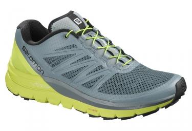 Chaussures de trail salomon sense pro max gris vert 46 2 3