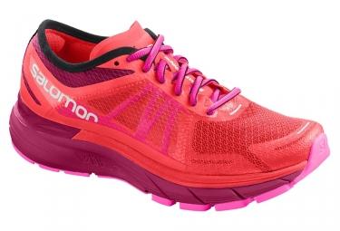 Chaussures de running femme salomon sonic ra max rose violet 38