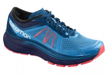 chaussures de running salomon sonic ra max bleu rose 44 2 3