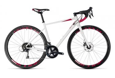 velo de route femme cube 2018 axial ws pro disc shimano sora 9v blanc rose 50 cm 160