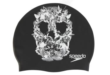 Speedo slogan cap noir blanc