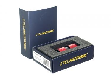 Boitier de pedalier cyclingceramic bb evo 386 shimano rouge