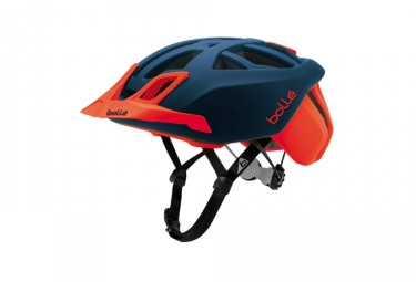 casque vtt bolle the one mtb bleu rouge 52 54 cm