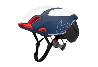 Casque route bolle the one premium bleu rouge blanc 52 54 cm