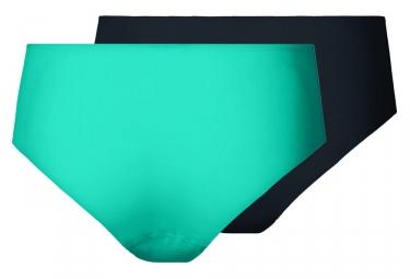 Culottes Femme Odlo The Invisibles (2 pièces) Bleu Turquoise Noir