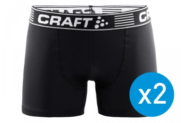 Pack de 2 Boxers Craft Greatness 6'' Noir Blanc