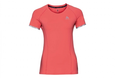 Maillot Manches Courtes Femme Odlo Zeroweight Ceramicool Orange