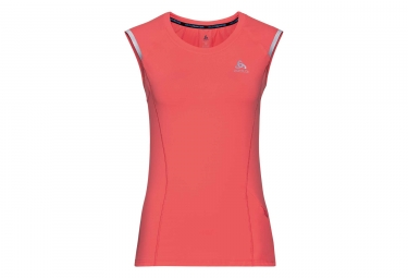 maillot sans manches femme odlo zeroweight ceramicool orange m