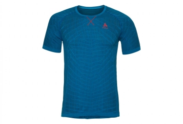 Maillot manches courtes odlo evolution light blackcomb bleu l