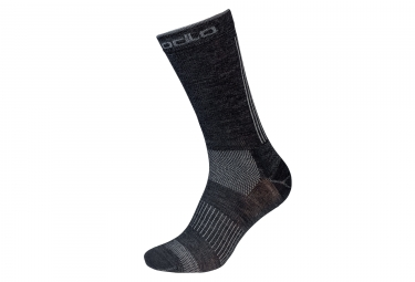 Paire de chaussettes odlo natural ceramiwool outdoor gris noir 39 41