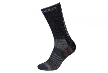 Odlo Natural+ Ceramiwool Outdoor Socks Grey Black