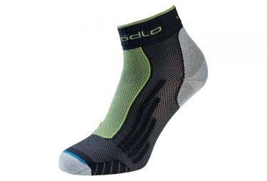 Paire de chaussettes odlo running noir vert 36 38