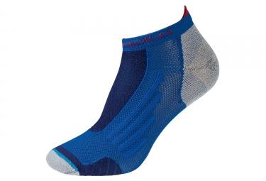 Paire de chaussettes basses odlo running low cut bleu rouge 39 41