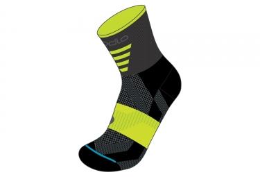 paire de chaussettes odlo cycling mid noir vert 39 41