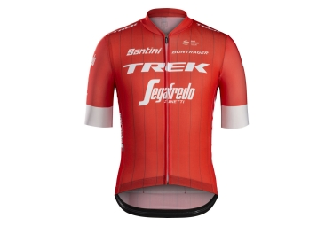 maillot manches courtes trek by santini team trek segafredo rouge blanc s