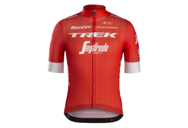 Short Sleeves Jersey Trek by Santini Team Trek-Segafredo Replica Red White