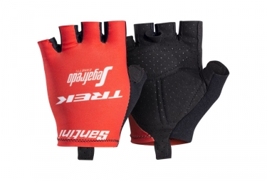 paire de gants courts trek by santini team trek segafredo rouge s