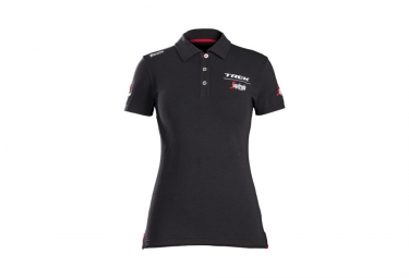 polo femme trek by santini team trek segafredo noir l
