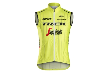 Gilet sans manches coupe vent trek by santini team trek segafredo jaune fluo xl