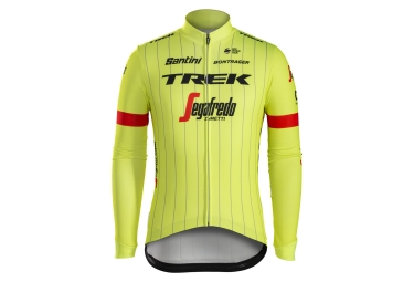 maillot manches longues trek by santini team trek segafredo jaune fluo s