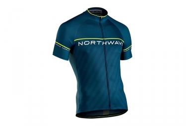 Maillot manches courtes northwave logo 3 bleu turquoise l