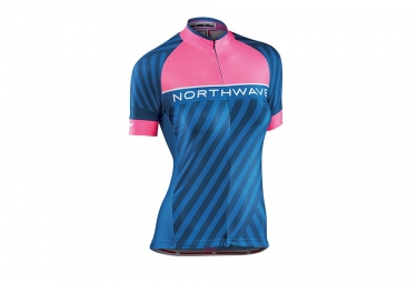 Northwave Logo 3 Women Short Sleeves Jersey Blue/Pink
