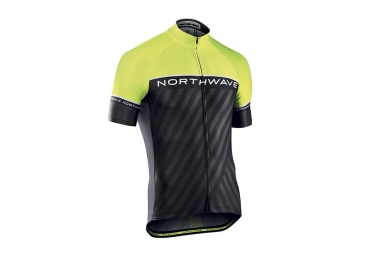 Northwave Logo 3 Kids Short Sleeves Jersey Black Neon Yellow