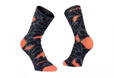 Paire de chaussettes northwave stone noir orange 44 47