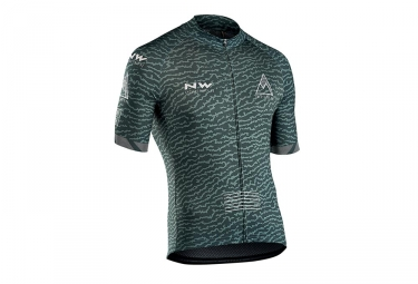 Maillot manches courtes northwave rough vert s