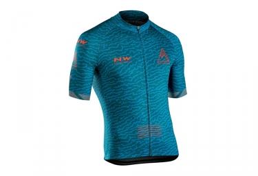Maillot manches courtes northwave rough bleu orange xl