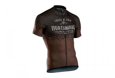Northwave Caffè Al Volo Short Sleeves Jersey Brown/Black