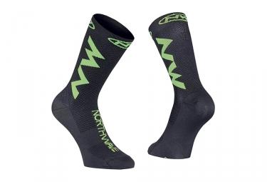 Paire de chaussettes northwave extreme air noir vert 36 39