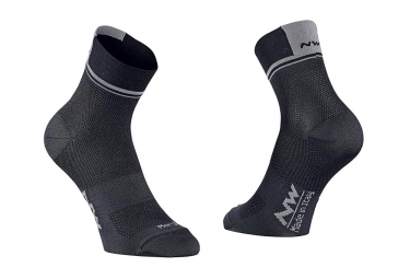 Northwave Logo 2 Pair of Socks Black/Grey