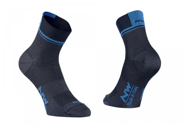 Paire de chaussettes northwave logo 2 noir bleu 36 39