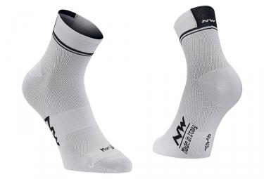 Paire de chaussettes northwave logo 2 blanc 36 39