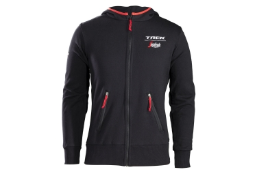 sweat a capuche trek by santini team trek segafredo noir rouge l