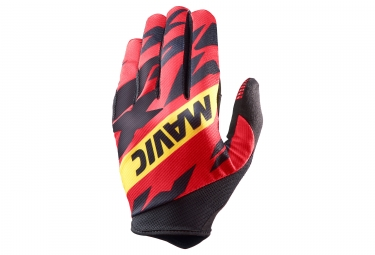 Paire de gants longs mavic 2018 deemax pro rouge noir l