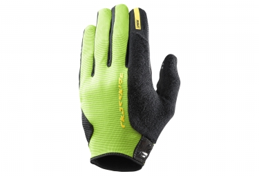 Paire de gants longs mavic 2018 crossride protect vert noir s