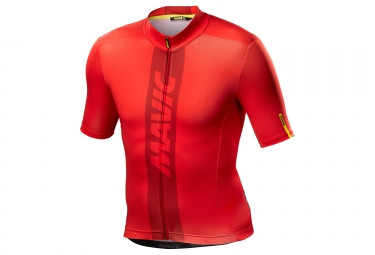 Maillot manches courtes mavic 2018 cosmic rouge m