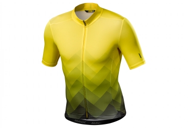 Maillot manches courtes mavic 2018 cosmic graphic jaune s
