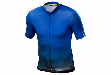 Maillot manches courtes mavic 2018 cosmic graphic bleu s