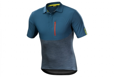 Maillot manches courtes mavic 2018 all road bleu gris s