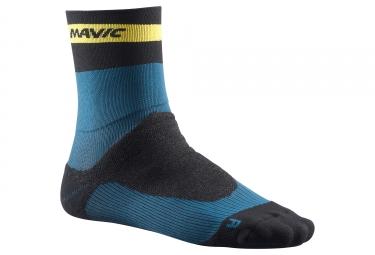 Paire de chaussettes hiver mavic 2018 ksyrium pro thermo noir bleu 35 38
