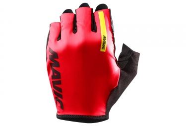 Paire de gants courts mavic 2018 cosmic rouge noir xl