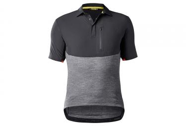 maillot manches courtes mavic 2018 all road noir gris xl