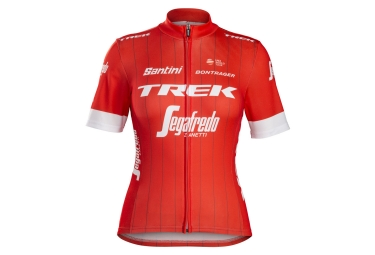 Maillot manches courtes femme trek by santini team trek segafredo rouge blanc s