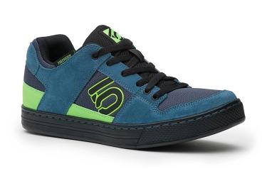 Chaussures pour pédale plate Five Ten Freerider Bleu / Vert / Fluo