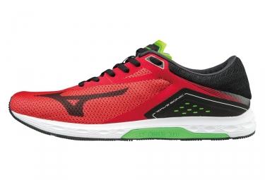 chaussures de running mizuno wave sonic rouge noir 41